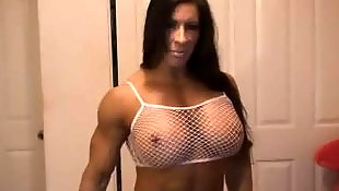 Big tits, Facial, Muscle, Big tit, Muscled, Big facial