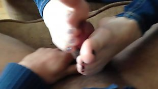 Foot fetish, Toes, Cumshot, Fetish, Foot, Footjobs