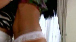 Eve angel, White lingerie, Lesbian lingerie, Shower dildo