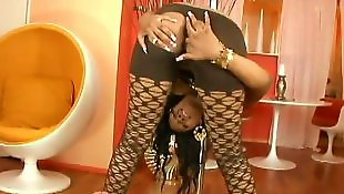 Ebony stockings, Stocking tease, Ebony hd, Hair pulling