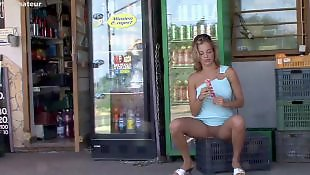 Nudist, Young girls, Public blowjob