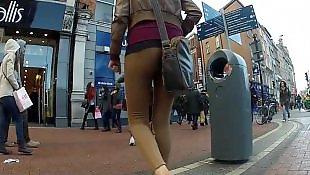 Teen, Walking, Voyeur, Stocking, Stockings, Teens