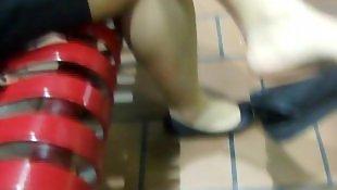 长腿美腿, 鞋足, 脚底特写, 业余恋足