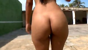 Bikini, Ass spreading, Spreading, Spread, Ass spread, Nude in public