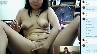 Webcam, Mom, Asian, Old, Asian mom, Asian webcam