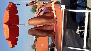 Upskirt, Italian, Voyeur, Pool
