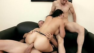 Gangbang, Busty threesome, Office, Brazzer