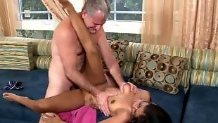 Couple, Deep throat, Dirty, Natural tits, Old and young, Old couple