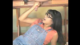 Asian handjob, Asian, Milking table, Milking, Table, Milk