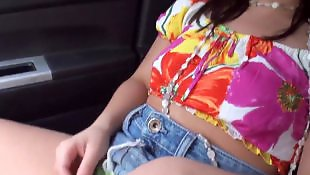 Skirt, Car blowjob, Small tits, Young pov, Dress, Car