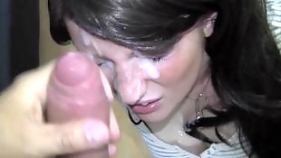 Amateur facial, German blowjob, German, German facial, German amateur