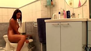 Pissing, Peeing, Piss, Innocent, Toilet, Solo teen