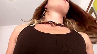 Red, Oral, Deep throat, Red head, Natural tits