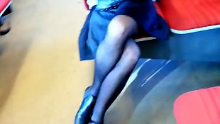 Leggings, Upskirt, Legs, Pantyhose, Flash, Voyeur