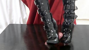 Boots, Foot fetish, Foot job, Foot, Mommy, Boot