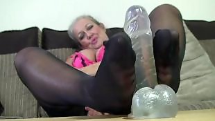 Mature, Mature stockings, Stockings mature, Mature foot, Wanking