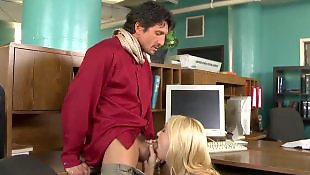 Mature blowjob, Office, Mature, Tommy gunn