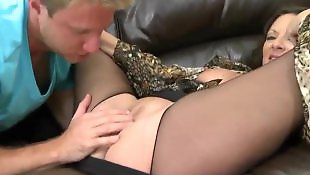Milf stockings, Mature, Pick up, Stockings fuck, Mature blowjob, White stockings