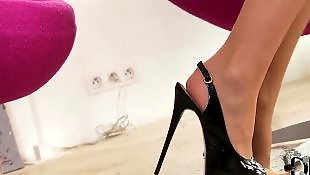 Masturbating heels, Stockings solo, Legs, Stockings masturbating, Solo babe, Legs solo