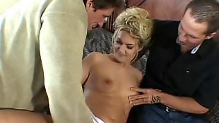 Mature threesome, Mature fuck, Tit fuck, Mature blowjob, Mature, Mature blonde