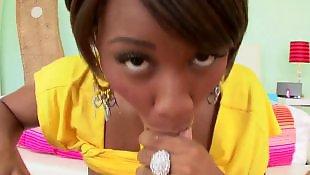 Ebony masturbation, Ebony anal