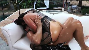 Oil, Big booty, Stockings anal, Booty, Anal stockings, Oiled