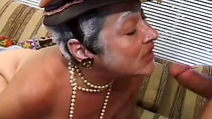 Older, Bbw granny, Hairy bbw, Blow, Granny facial, Hairy brunette