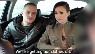 Couple, Amateur threesome, Faketaxi, Threesome pov, Married