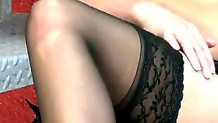Stockings solo, Pantyhose, Pantyhose solo, Stockings masturbating, Solo shower, Skirt solo