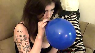 Tattoo, Emo, Balloon, Blow, Tattooed