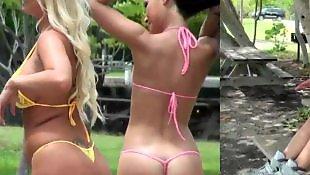 Lesbian bikini, Bikini, Molly cavalli, Lesbian outdoor, Bikini lesbian