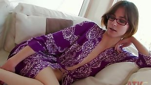 Hairy pussy, Small tits, Short hair, Strip, Movie, Hairy brunette