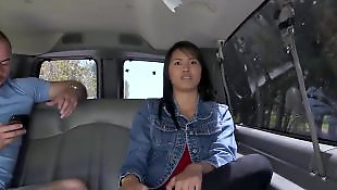 Asian teen, Bus, Bang bus