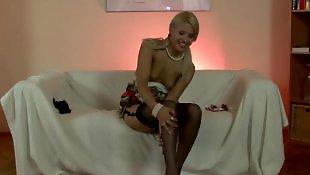 Stocking, Stockings, Lesbians, Stocking masturbation, Milf, British mature