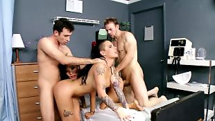 Orgy, Asian, Two girls, Nurse, Anal orgy, Asian nurse