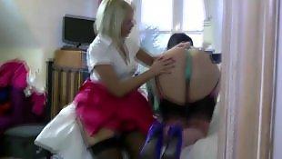 Lesbian, Mature, Stocking, Lesbians stockings, Lesbian milf, Milf