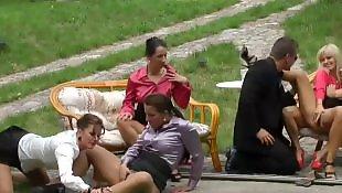 Czech, Group, Gangbang, Party, Pool, Lesbian pool