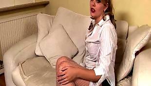 W ponczochach, Masturbacja blond cipka, Masturbacja cipki w ponczochach, Masturbation grany, Onanizowanie ponczochy, Grany pussy masturbate