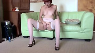 Milf stockings, Housewife, Moms, Mature pov, Mature, Red