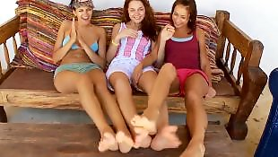 Teen threesome, Teen lesbian, Teen lesbian threesome
