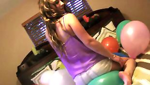 Busty teen anal, Balloon, First, First time anal, First anal, Samantha