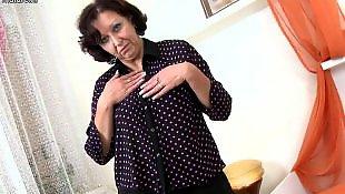 Mature, Granny, Old granny, Wet pussy, Dildo mature, Granny dildo