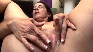 Saggy, Mature, Granny, Saggy tits, Milf fingering, Old granny