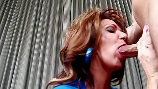 Cum in mouth, Cougar, Deauxma, On her knees