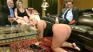 Sara jay, Thong, Sara, Submissive, Foursome, Blindfold