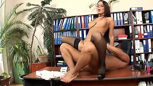 Stockings fuck, Secretary, Office, Heels, Stockings heels