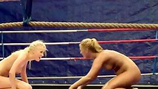 Teen lesbian, Lesbian pussy lick, Fight, Lesbian fight