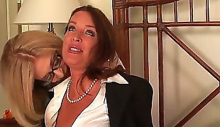 Nina hartley, Mature lesbian, Rachel steele, Mature, Office lesbian, Nina hartley lesbian