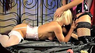 Lesbians stockings, Lesbian lingerie, Lesbian strap on, Lesbian latex, Corset
