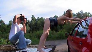 Порно фотографии, Анал на улице